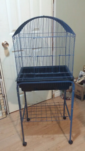 2 bird cages with stands