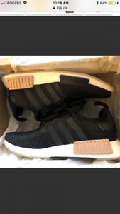 New in box Adidas NMD R1 Black and Tan women's size 8