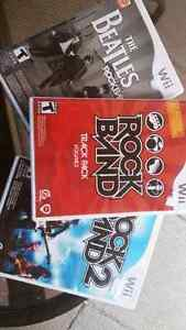3 ROCK BAND GAMES for WII