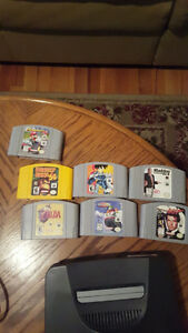 N64 consol 7 games 5 controllers
