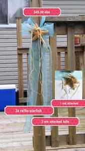 3x Raffia Starfish beach  wedding decorations