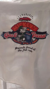MICKEY MOUSE GAS&GREASE MENS BUTTON  SHIRT/