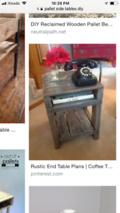 Looking to purchase a rustic coffee table and end table