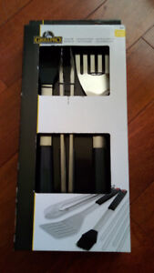 Grillpro Deluxe BBQ Utensil Set - Great Fathers Day Gift - New!