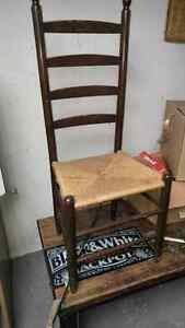 Old tall back chair