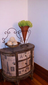 wicker vase and basket