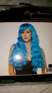 Long Blue Wig for Halloween Costume by Leg Avenue