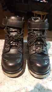 Black Biker Boots - Brand New. Size 10