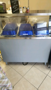 3 well hot table for sale