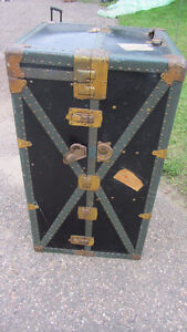 Vintage Steamer Travel Trunk - Original St. Augustine Florida