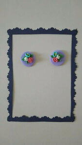 Handmade earrings from polymer clay