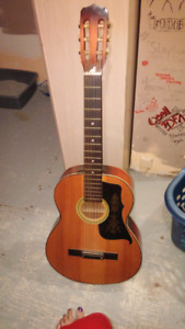 Acoustic guitar great shape new strings