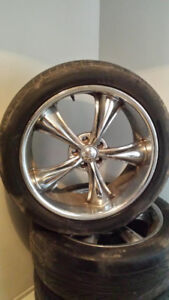 "20"" BOSS Rims and Tires $600!!!  -255/45/ZR20-"