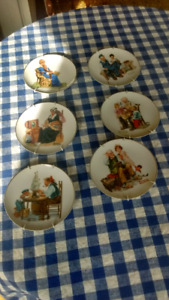 Norman rockwell plates six