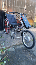 VIPER ELECTRIC HANDCYCLE, ATTACHED TO CHAIR.