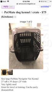 Dog crate dog kennel