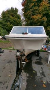 16 foot boat 70 hp motor and trailer