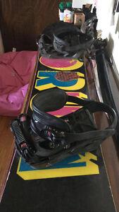 Full set up board, bindings, boots