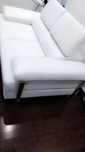 White leather sofas x 2 + love couch