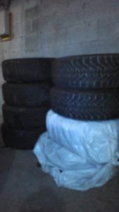 Winter Tires Goodyear Nordic 215/65 R16 On Rims*