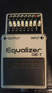 BOSS GE-7 Equalizer Pedal Works good!!! $60 or trade!!!!!