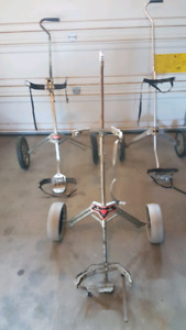 3 golf bag carts for sale