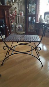 Wicker/cast iron chair/table Kitchener / Waterloo Kitchener Area image 1