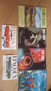 Vintage ford times magazines and lincoln postcards