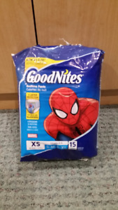 Good Nites Bedtime Pants - Sz XS - NEW open pack of 15