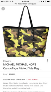 Camo Michael Kors Tote. Amazing condition , like new