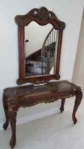 Hallway console and mirror