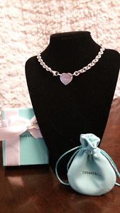 Authententic Return to Tiffany Heart Tag Choker