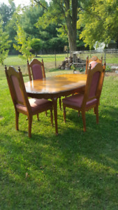 Vintage Dinning Table And 4 Chairs OBO