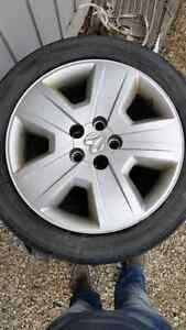 Dodge caliber snow tires and rims  Kitchener / Waterloo Kitchener Area image 2