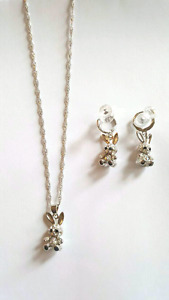 Bunny Necklace and Earrings