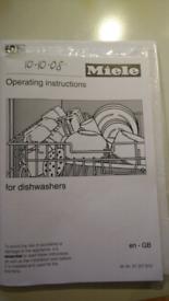 Miele dishwasher G1022 instruction manual