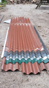 Sheets of steel roof