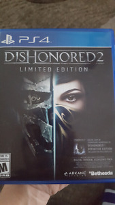 Dishonored 2 for PS4  $60 OBO