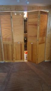 Pine Louvered Bi-fold doors