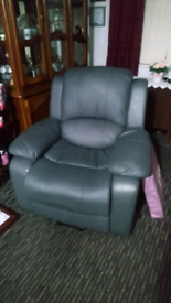 Grey electric rising recliner chair