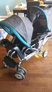 120$ Double Stroller Cambridge Kitchener Area image 1