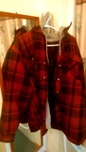 Tradesmax plaid quilted coat xl