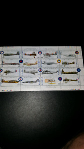 Comp. sheet of 12 Can.stamps (75th anniversary of RCAF)