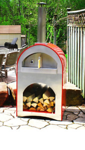 Wood Pizza Oven - Outdoor - Hot Red