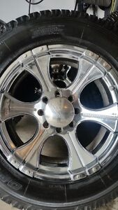 4 CEPEK CHROME RIMS WITH TOYO OPEN COUNTRY LT275/65/20