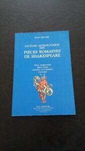 Lecture astrologique des pièces romaines de Shakespeare