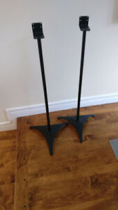 Satellite speaker stands - metal, strong, as new