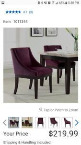 Amazing! Practically new! Dinning/Side Chairs