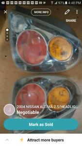 2004 NISSAN ALTIMA 2.5/HEADLIGHTS/TAILLIGHTS