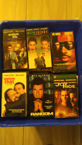 VHS MOVIES 50 CENTS EACH